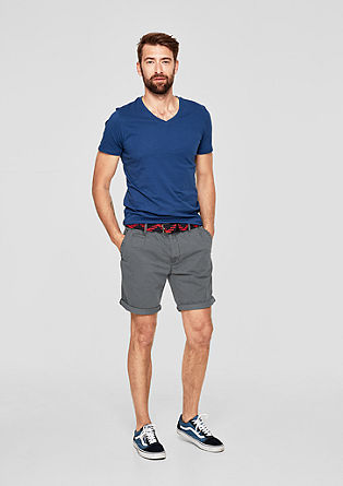 Plek loose: garment-dyed chinoshort