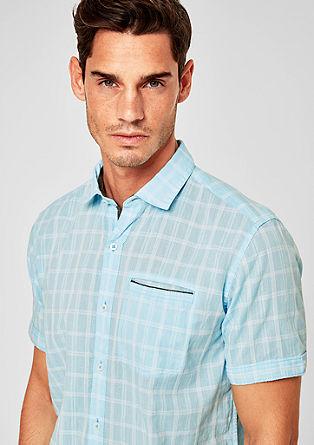 Regular: chemise manches courtes à carreaux de s.Oliver
