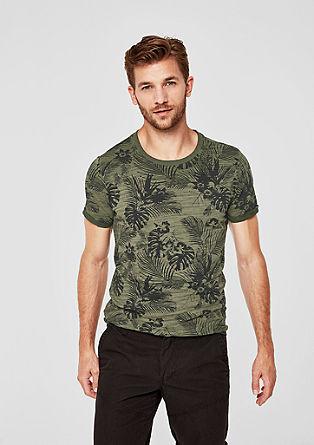 T-shirt en fil flammé à imprimé de s.Oliver