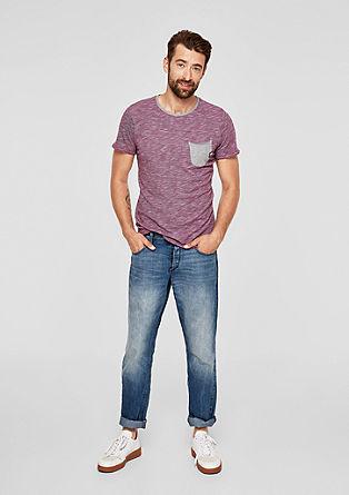Meliertes Shirt mit Kontrasten