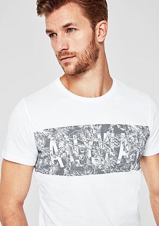 Slim: T-Shirt mit Print