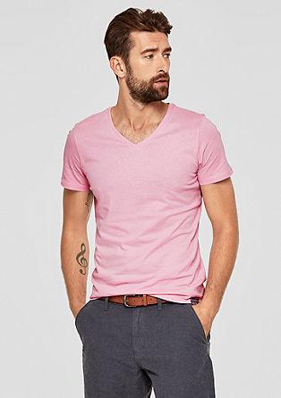 Basic-Jerseyshirt mit V-Neck