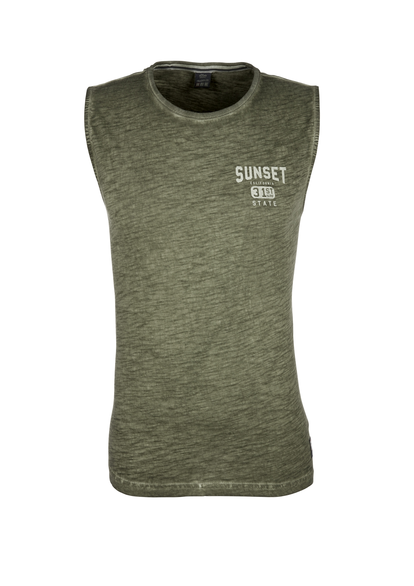 Tanktop | Sportbekleidung | Grün | 100% baumwolle | s.Oliver