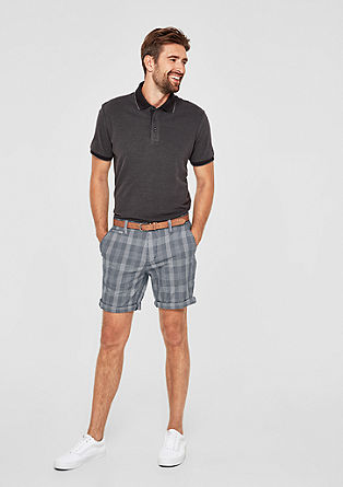 Plek Loose: check chino Bermuda shorts from s.Oliver