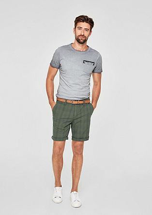 Plek Loose: check chino Bermuda shorts from s.Oliver