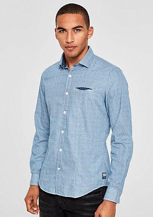 Slim: Gemustertes Baumwollhemd
