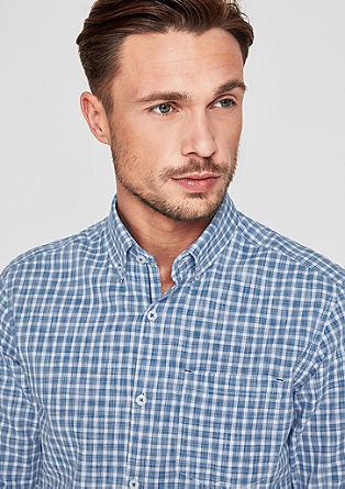 Regular: overhemd met slubstructuur
