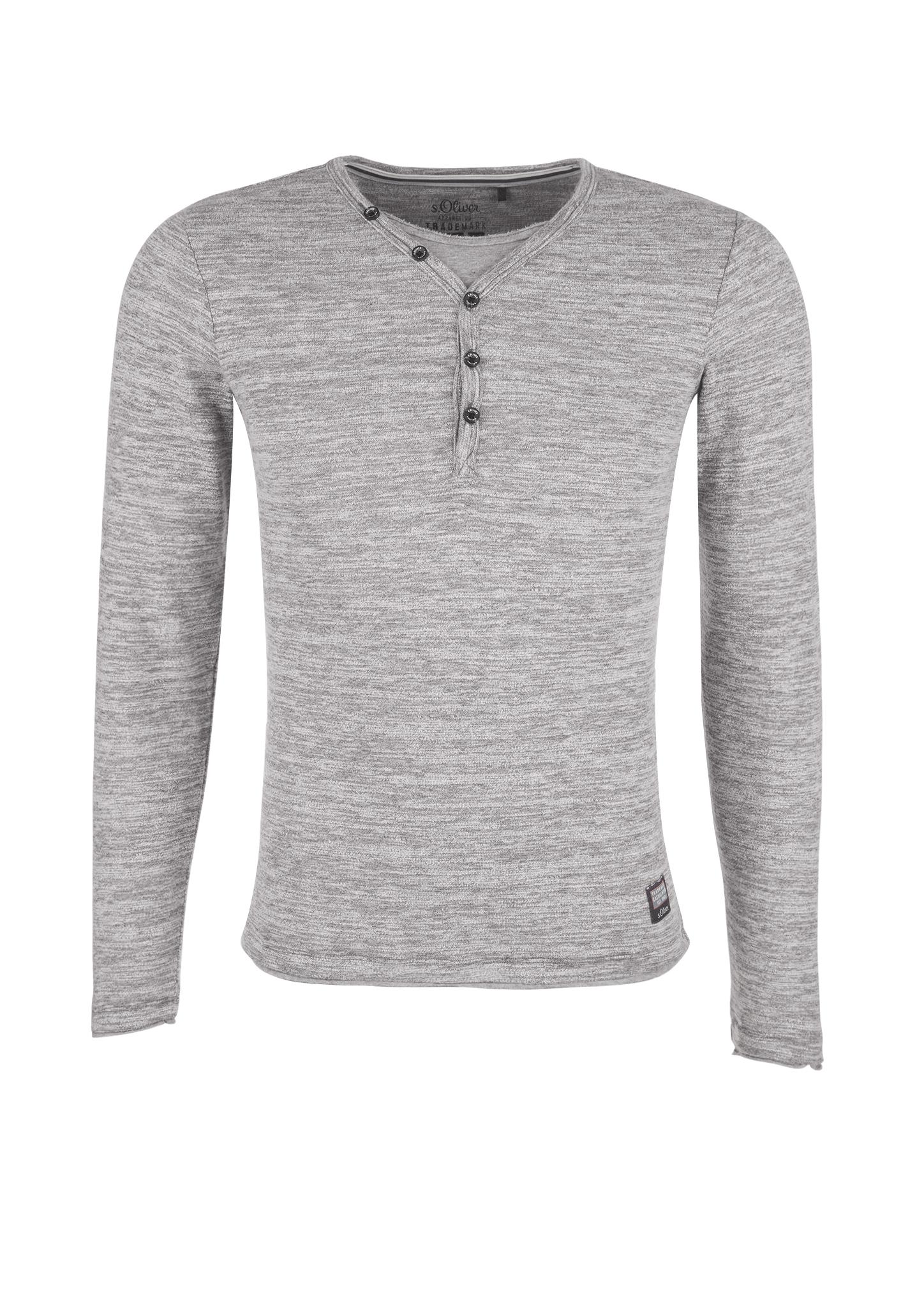 Langarmshirt   Bekleidung > Shirts > Langarm Shirts   Grau/schwarz   52% baumwolle -  42% polyester -  6% viskose   s.Oliver