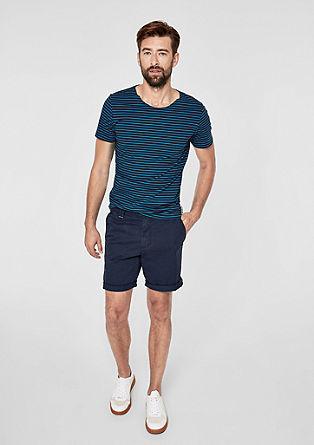 Slim: proužkované žerzejové tričko
