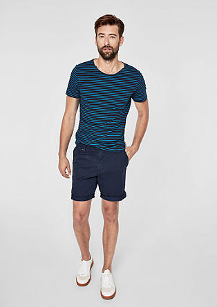 Slim: Gestreept jersey shirt