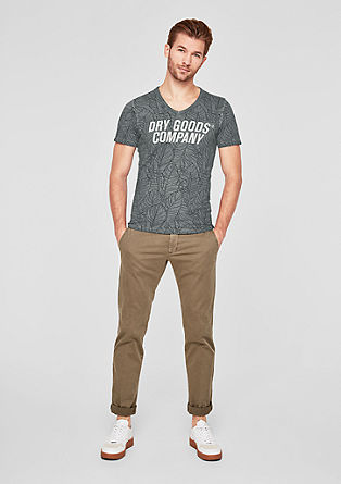 Slim: T-Shirt mit Printmuster