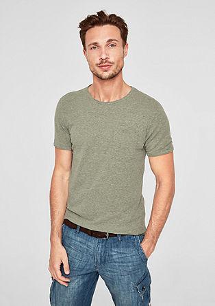 T-Shirt mit Strukturmuster