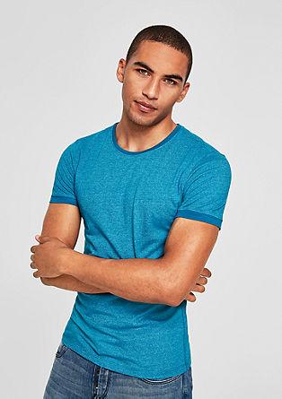 Slim: Meliertes Jerseyshirt
