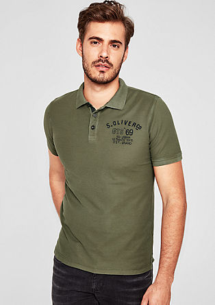 Cold pigment-dyed garment-washed effect polo shirt from s.Oliver