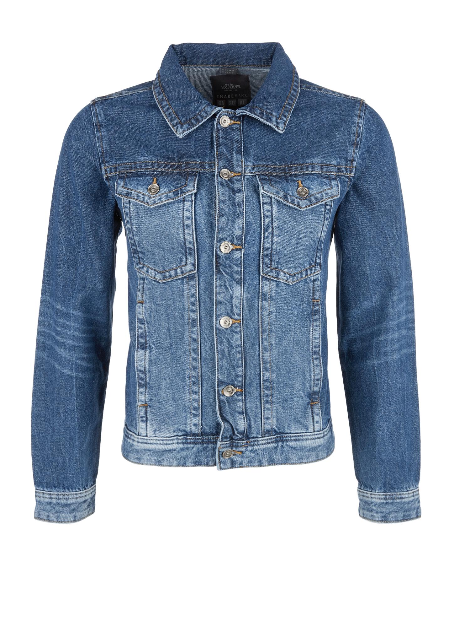 Jeansjacke   Bekleidung > Jacken > Jeansjacken   Blau   100% baumwolle   s.Oliver
