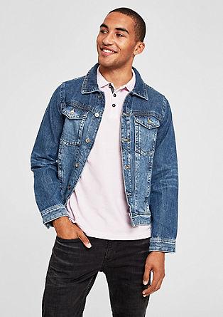 Veste en jean décontractée à effet délavé de s.Oliver