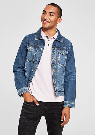 Casual denim jack met wassing