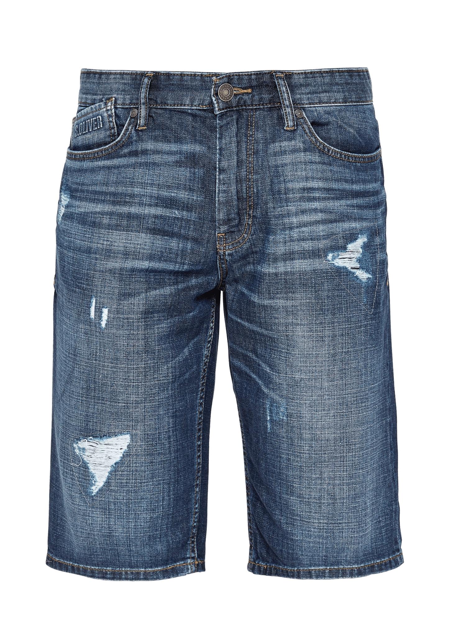 Bermuda   Bekleidung > Shorts & Bermudas   Blau   100% baumwolle  enthält nichttextile teile tierischen ursprungs (leder-patch)   s.Oliver