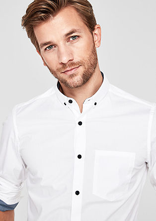 Slim: stretchy button-down shirt from s.Oliver
