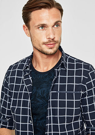 Slim: check cotton shirt from s.Oliver