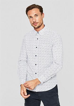 Slim: overhemd met motiefprint