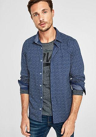 Slim: košile se vzorovaným potiskem