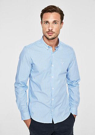 Slim: overhemd met fijne strepen
