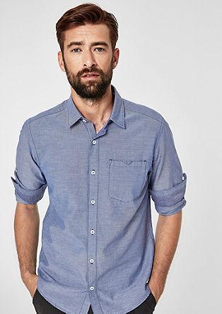 Regular: Hemd mit Webstreifen