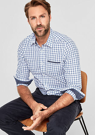 Slim: shirt with a check pattern from s.Oliver