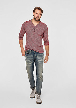 Slim: Henley T-shirt in a mottled look from s.Oliver