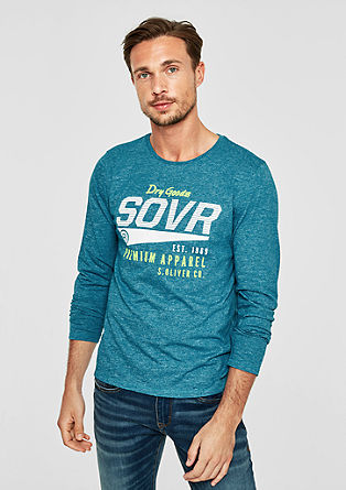 Long sleeve top with a logo print from s.Oliver