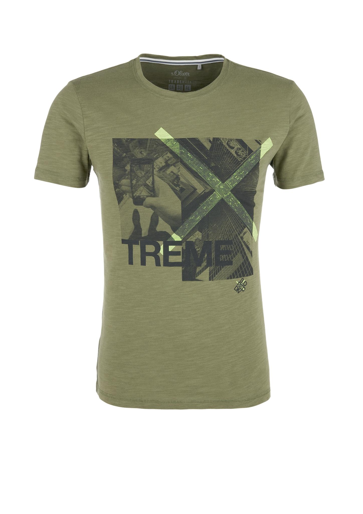 T-Shirt | Bekleidung > Shirts > Sonstige Shirts | Grün | 100% baumwolle | s.Oliver