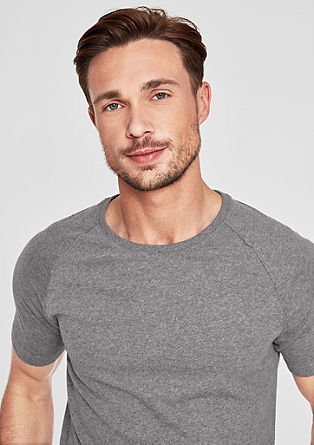 Slim: Sporty basic T-shirt from s.Oliver