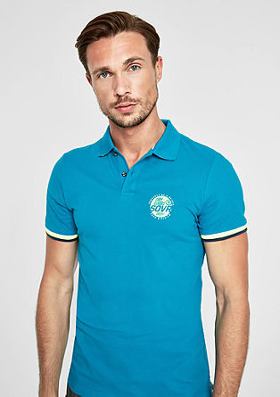 Slim: polo shirt with contrast stripes from s.Oliver