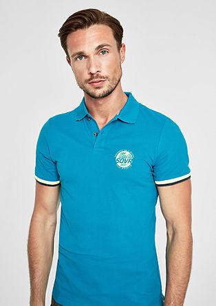 Slim: Polo majica s kontrastnimi črtami