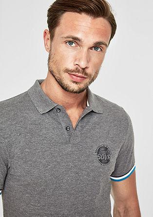 Slim: Poloshirt mit Kontraststreifen