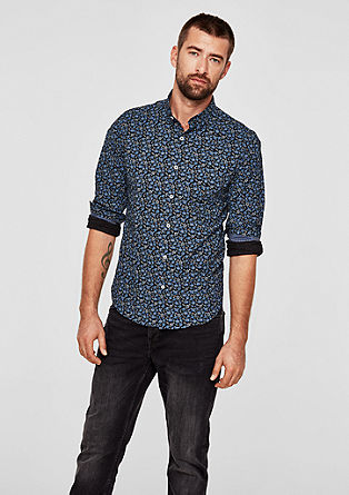 Slim: shirt with a print pattern from s.Oliver