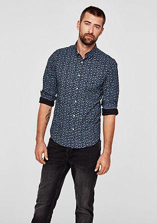 Slim: Hemd mit Printmuster