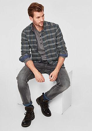 Regular: chemise à carreaux en coton de s.Oliver