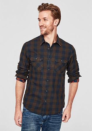 Slim: Hemd im Vichykaro-Design