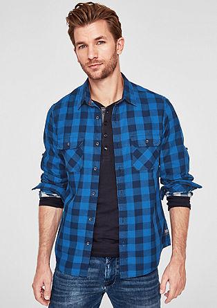 Slim: overhemd met vichyruiten