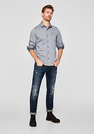 Slim: twill shirt with a woven texture from s.Oliver