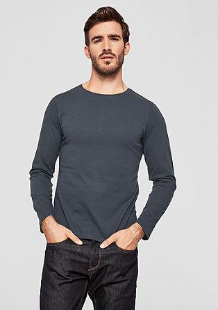 Slim: longsleeve van katoen-jersey