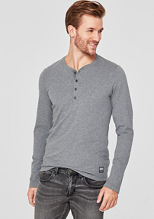 Slim: Henley-Shirt in Premium-Qualität