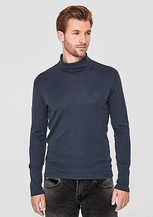 Langarmshirt mit Rollkragen