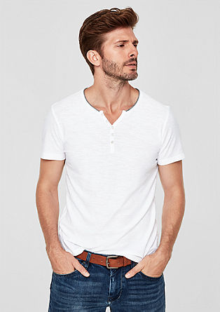 Slub top in a Henley style from s.Oliver