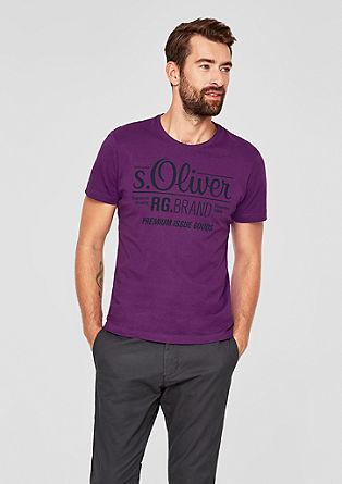 T-shirt en jersey à imprimé logo de s.Oliver