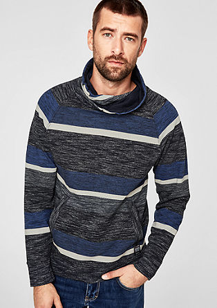 Turtleneck-Sweater mit Colourblocking