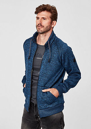 Knitted fleece jacket with plush lining from s.Oliver