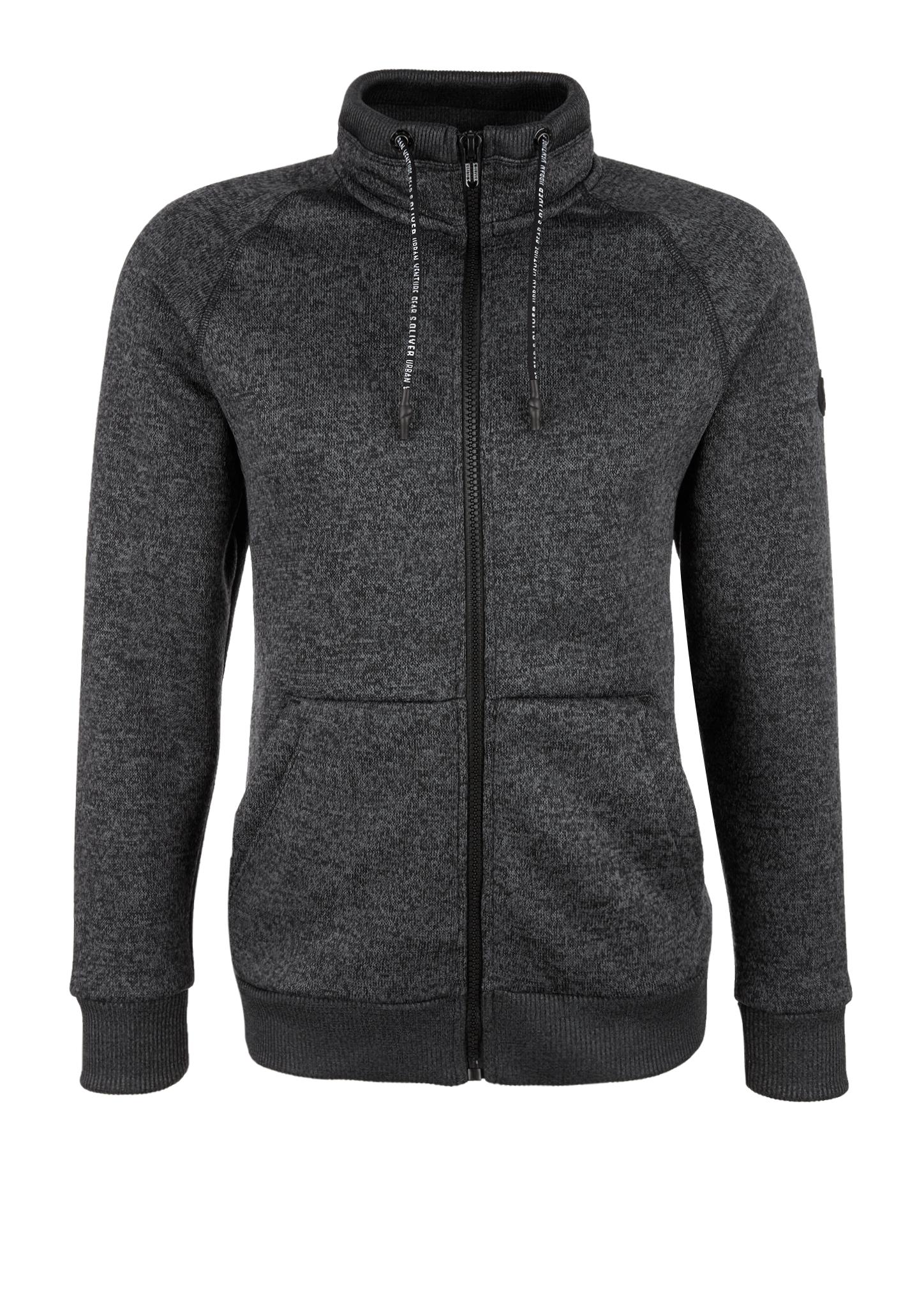 Outdoor-Sweatjacke | Sportbekleidung > Sportjacken | Grau/schwarz | Obermaterial 100% polyester| kragen/manschette/bund 95% baumwolle -  5% elasthan | s.Oliver
